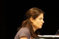 Julia Samojło podczas próby