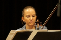 Anna Szalińska podczas próby